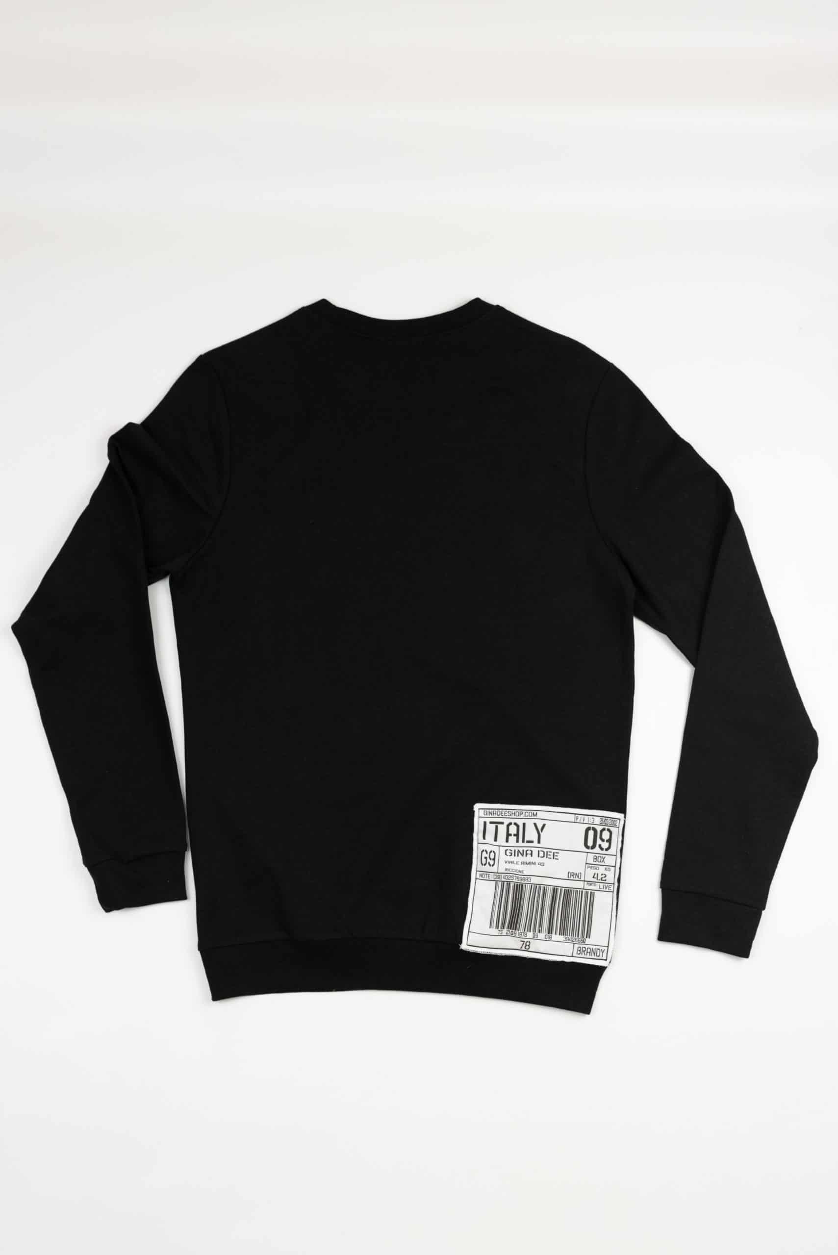 Sweatshirt Gothic Giro Collo Black Gold Back