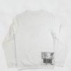 Sweatshirt Gothic Giro Collo White Silver Back