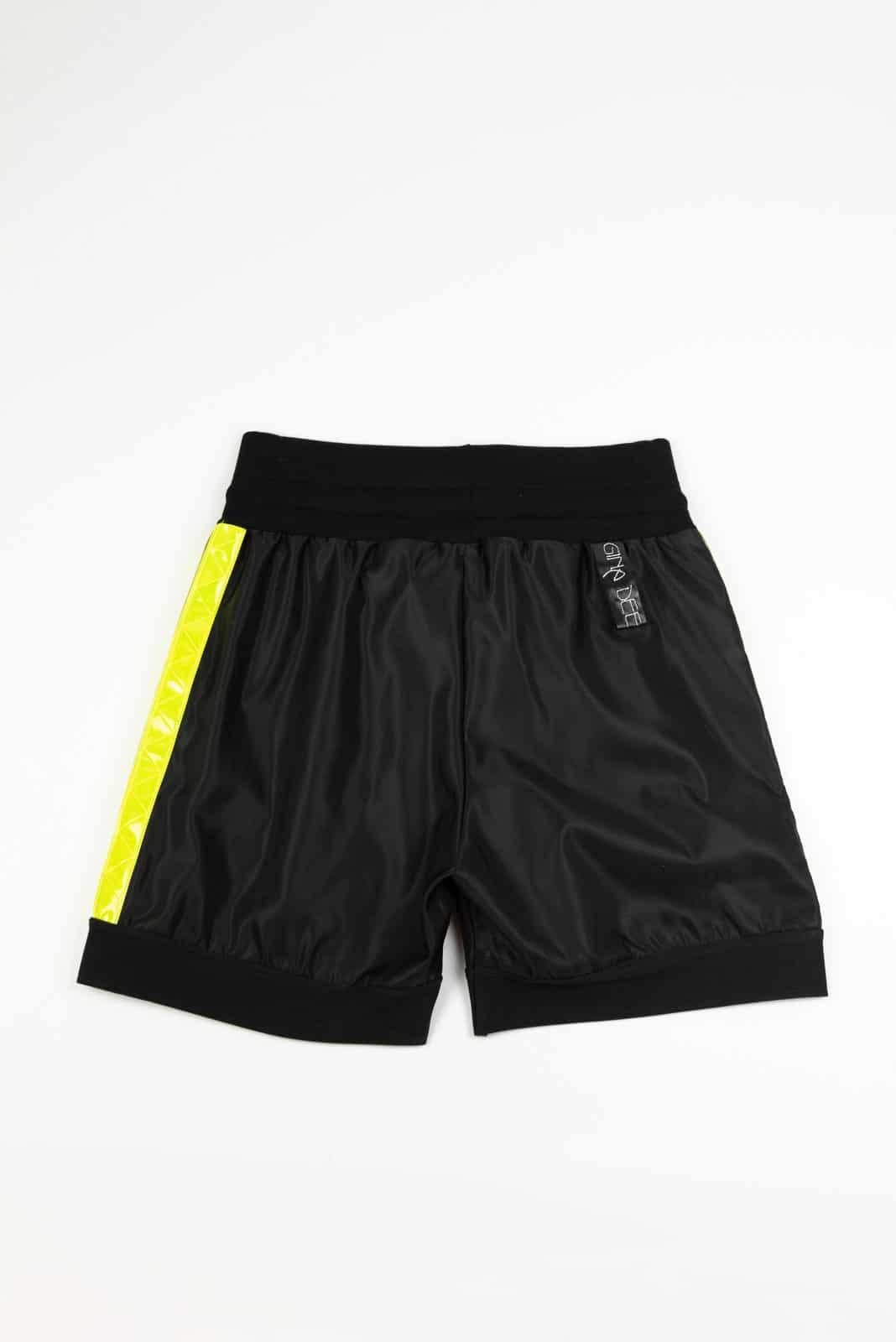 Shorts Bande Gialle No Tasche Back